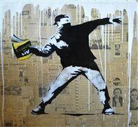 Banksy Thrower by Mr. Brainwash