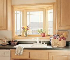 Sink and Bay Window :extend counter into window | New House ...