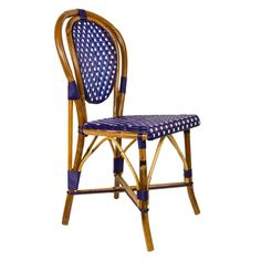 cream & white mediterranean bistro chair (l) | london living