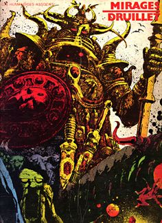 Spoiler Free Movie Sleuth: Images: A Fantastic Collection Of Stunning Sci-Fi And Fantasy Based Heavy Metal Comic Book Covers From The Late Art Et Illustration, Illustrations, Fantasy Books, Fantasy Artwork, Heavy Metal Comic, Art Science Fiction, Arte Sci Fi, 70s Sci Fi Art, Metal Magazine