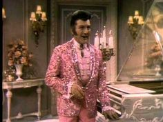 """""""That's right,"""" he says. """"I discovered that you have to draw the line between the performer and the person."""" // Liberace's Wardrobe - The Liberace Show"""