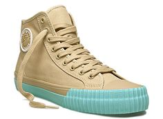 Center Hi in Tan with Light Blue #PFFlyers