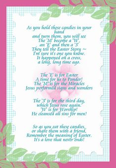 Jelly bean poem easter gift pinterest jelly beans poem and easter negle Images