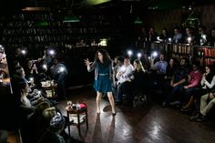 Each night the Drunk Shakespeare Society gathers with audience members on a library-like set, whereupon one actor downs alcohol, and the play commences.