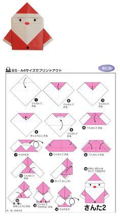Santa Claus Origami Tutorial
