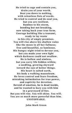 Poems about abusive boyfriends