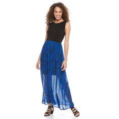 Women's Apt. 9® Colorblock Chiffon Maxi Dress, Size: Medium, Oxford