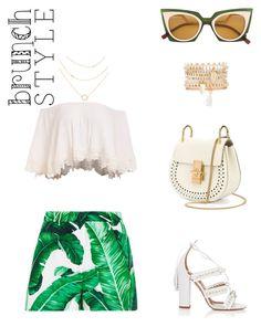 """Sin título #86"" by pgha on Polyvore featuring moda, Dolce&Gabbana, Fendi, Chloé, Aquazzura y Charlotte Russe"