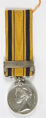 South Africa Medal, with 1879 clasp, estimate £300-£400. (Lot 504, 18th June 2014 Auction Sale) www.afbrock.co.uk
