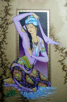 No info available Egyptian Drawings, Hamsa Art, Mughal Paintings, Calligraphy Art, Persian Calligraphy, Art Optical, Iranian Art, Islamic Art, Traditional Art