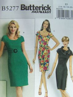 Butterick B5277 Sewing Pattern  Misses' by WitsEndDesign on Etsy, $10.00