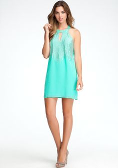 bebe | Beaded Halter Dress - ONLINE EXCLUSIVE - Special Occasion #bebe #CocktailDress #Womensfashion