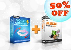TOP 2 BEST SELLERS ARE ON MASSIVE SALE!!  Grab professional Voice Changer Software Diamond 8, immediately get advanced Music Morpher Gold with only half price!!!  Be the master of audio brilliance with Audio4fun's masterful audio tools and Kick Start 2014 the way you've never done before!  Learn more at: http://www.audio4fun.com/promotion.htm