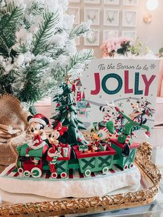 Our Disney Christmas Decor!