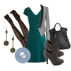 """Teal It With a Kiss Dress"" by modcloth on Polyvore"