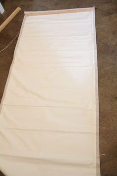 tutorial for roman shades- going to make my Coffee Sack shades for my patio doors!