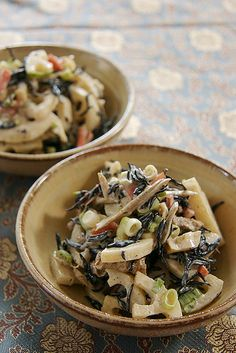 Lotus Root and Hijiki Salad