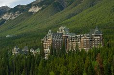 Banff Springs Hotel In Alberta Canadian Rockies...One of the most haunted places in Canada:  http://www.msn.com/en-ca/travel/tripideas/the-worlds-9-most-haunted-places/ar-BBrzAnd?li=AAggNb9&ocid=edgsp#page=7