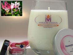 Honeysuckle Scented Marquee Candle with Fine Jewelry Prize Inside.