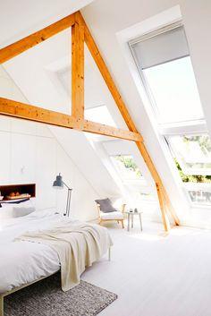 Light attic bedroom