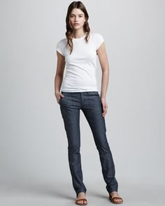 Slim Twill Pants by Vince at Bergdorf Goodman.