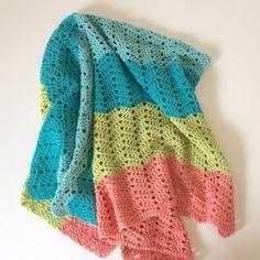 Beach Baby Baby Blanket crochet pattern by little monkeys designs