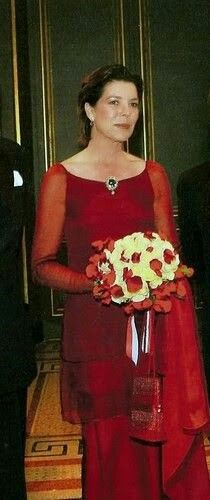 Princess Caroline of Monaco and Hanover, stunning in red!                                                                                                                                                      Plus