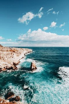 Untitled by Databhi// Nature Landscape Sea Ocean Waves Rocks Coast Travel VSCO Myuploads Oh The Places You'll Go, Places To Travel, Travel Destinations, Voyager C'est Vivre, Beautiful World, Beautiful Places, Adventure Is Out There, Summer Vibes, Summer Sky