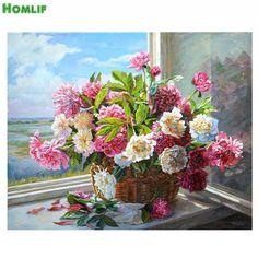 5D DIY Diamond Painting Needlework Diamond Mosaic Pictures Rhinestones Embroidery  beautiful flower Crafts Home Decor #Affiliate