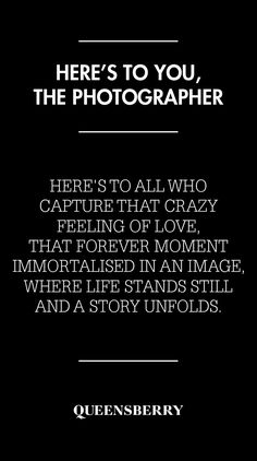 Here's to the photographer!