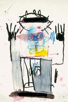 Jean Michel Basquiat (1960-1988)** Jean-Michel Basquiat was een Amerikaans neo-expressionistisch (en van oorsprong graffiti)-kunstenaar. Zijn eerste solotentoonstelling in 1982 werd meteen een groot succes.Hij werkte enige tijd aan gezamenlijke schilderijen met zijn grote voorbeeld Andy Warhol. Verguisd en geliefd in de kunstwereld is Basquiat op zeer jonge leeftijd door een overdosis aan zijn einde gekomen
