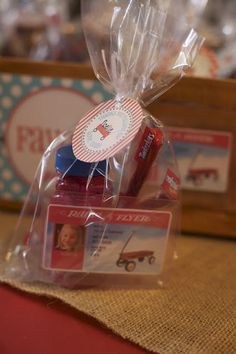 I love the license to fly!  So many cute ideas for little red wagon party!