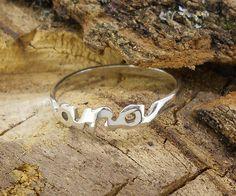 anillo sencillo nombre plata