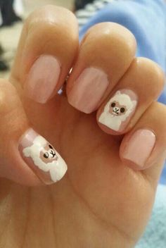 These alpacas look so real, I bet they're soft to the touch. | Community Post: This Girl's Nail Art Will Make You Reevaluate Your Life