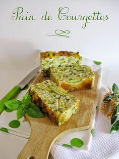 J'en reprendrai bien un bout…: Pain de Courgettes Vegetarian Recipes, Cooking Recipes, Healthy Recipes, Veggie Recipes, Good Food, Yummy Food, Tasty, Eat Better, Cooking Time