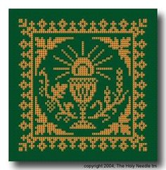 Crochet Pattern - PDF - Simple Chalice Design - Click Image to Close Catholic Book Store, Catholic Books, Extreme Unction, Religious Cross Stitch Patterns, Faith Crafts, Prayer Partner, Filet Crochet, Book Gifts, Camino Real