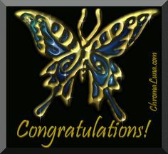 Another compliments image: (congratulations_butterfly) for MySpace from ChromaLuna