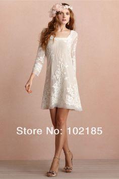 Fairy Square Neckline And A Sixties-era Hem Appliqued Bow Chiffon Column Short Casual Long Sleeve Bridesmaid Dresses