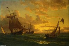 Shipping in Rough Waters, Oil On Canvas by William Bradford (1590-1657, United Kingdom)