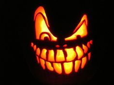scary halloween pumpkin easy to make - Recherche Google                                                                                                                                                                                 More