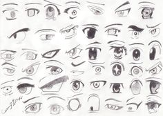 so many ways you can draw eyes.