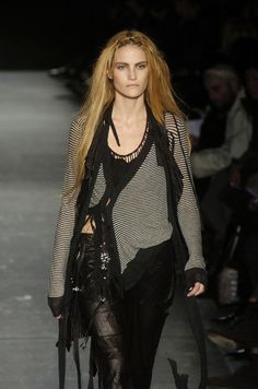 Designer work inspired by 1980s fashion- Ann Demeulemeester 2005 design inspired by deconstructionist fashion of the 1980s