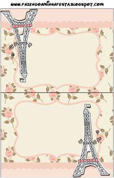 París con Rosas: Invitaciones para Imprimir Gratis.