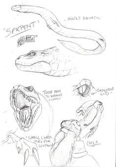 Skull Island Sea Serpent by Matt Frank
