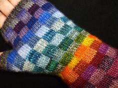 Ravelry: Mosaic Happy Fingerless Gloves pattern by Taiga Hilliard