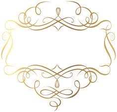 Gold Decoration PNG Transparent Clip Art Image