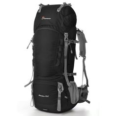 Mountaintop 75L-80L Internal Frame Backpack Hiking Backpack with Rain Cover