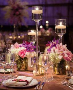 Brian Hatton Photography, Via By Yena Designs; Wedding reception centerpiece idea;