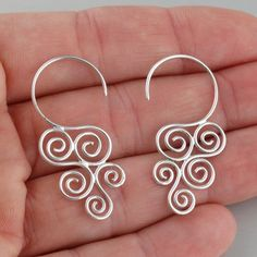Shop FashionJunkie4Life for Spiral Earrings and a variety of sterling silver jewelry #bisuterias #bisuteria #bisuteriasmujer #bisuteriasperu #peru