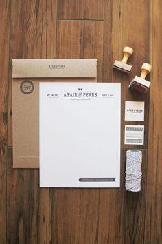 Branding, identity, letterhead, typography, deisgn
